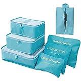 YuuHeeER Cubo de embalaje organizador de equipaje de viaje mochila impermeable 6 set rojo 6 piezas