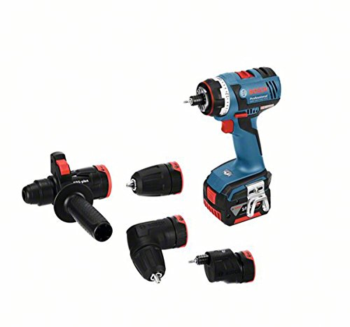 Bosch Professional 14,4 V accuschroevendraaier GSR 14,4 V-EC FC2 2 2 x 4,0 Ah acculader boorhouder L-BOXX (18 volt max. draaimoment: 46 Nm)