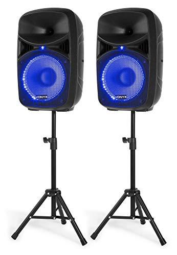 Vonyx VPS102A Sistema de Sonido Altavoces Activos de 600 W de 10...