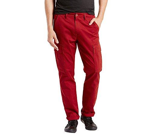 Levi's 541 - Pantaloni cargo da uomo - Rosso - 33W x 32L
