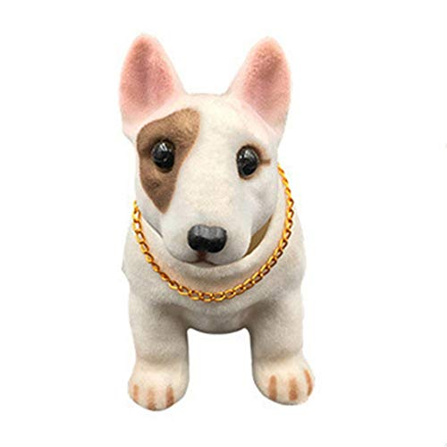 Car Styling Shaking Head Lucky Dog Car Ornament Nodding Dog Auto Dashboard Doll Bobblehead Dog Bull Terrier Rocking Head Toy Dog