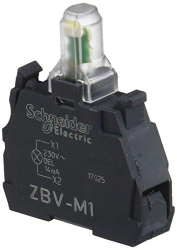 Schneider Electric ZBVM1 Harmony Bloc Lumineux pour 22 mm LED Blanche Intégrée, 230-240 V