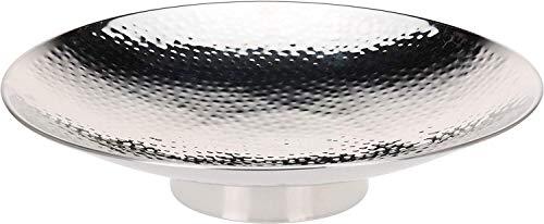 DRULINE Dekoschale Gehämmert Edelstahl Ø 36,5 cm - Farbe: Silber
