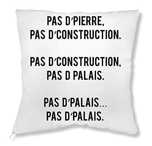 LukeTee Pas d'Pierre Pas d'Palais kussen