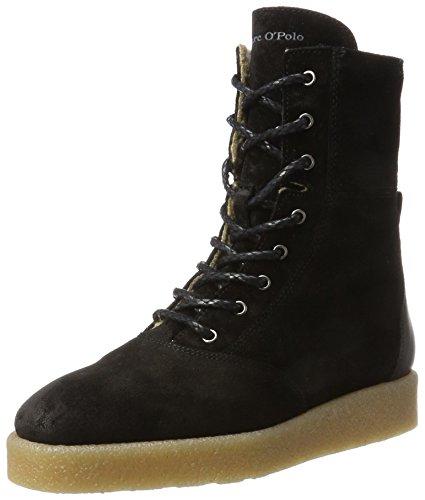 Marc O'Polo Damen Lace Flat Heel Bootie 70914296301304 Schlupfstiefel, Schwarz (Black), 40 EU