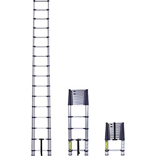 Xtend+Climb 785PKIT Pro 785P Telescoping Ladders with Nylon Carrying Bag and Rubber Top Rung Bumper Guard, 15.5-feet