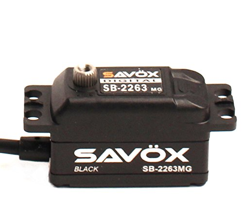 Savox SB-2263MG-Be High Speed, Brushless Motor, Metal Gear, Low Profile Digital Servo, Black Edition (0.076/138.9)