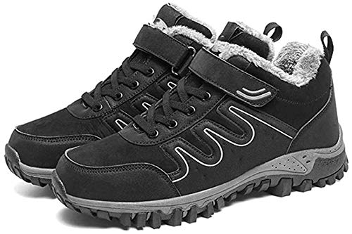 Zapatos de Hombre Senderismo Zapatos for Hombres De Nieve Al Aire Libre Que Suben Las Zapatillas De Deporte De Encaje Hasta La Ronda Del Dedo Del Pie Gamuza Sintética Forro Dentro Del Gancho Caliente