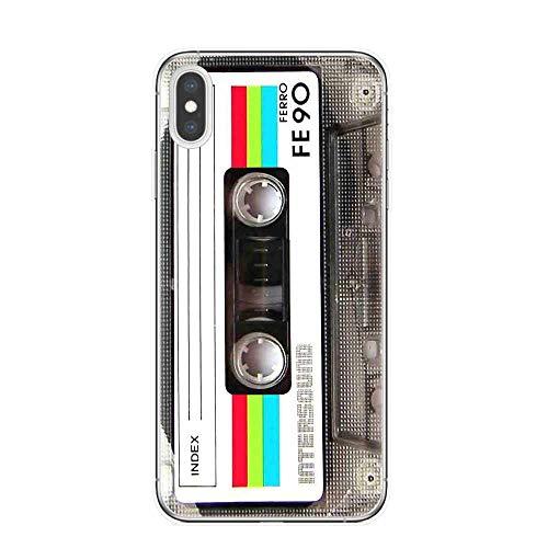 APHT Cinta de Video, Caja del teléfono Impresa con cámara para iPhone-11 Pro MAX Cute Fashion Shockproof Soft Silicone Cover