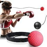 XIOJAE Boxing Reflex Ball Set Reflexball Boxing Reflex Fightball Verstellbares Kopfband, 2 Schwierigkeitsgrad Boxball Für Praktische Ausbildung Verbessern Geschwindigkeits Reflexe Und Koordination