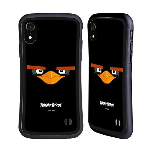 Head Hülle Designs Offiziell Offizielle Angry Birds Black Volles Gesicht Hybride Handyhülle Hülle Huelle kompatibel mit Apple iPhone XR