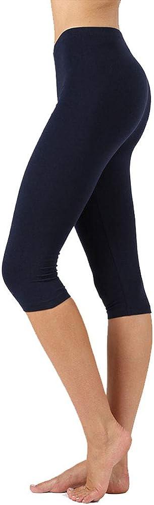 NioBe Clothing Womens High Waist Basic L Capri Cotton 2021 autumn and winter new Max 79% OFF Soft Solid
