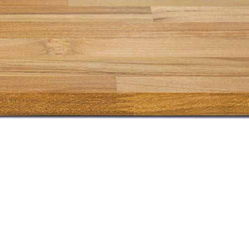 Teak Massivholz Regalboden / Tischplatte/ Arbeitsplatte / Möbelbauplatte/ FSC 100% (80, 10)