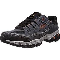 Skechers Men's Afterburn Memory-Foam Lace-up Sneaker ( Charcoal)
