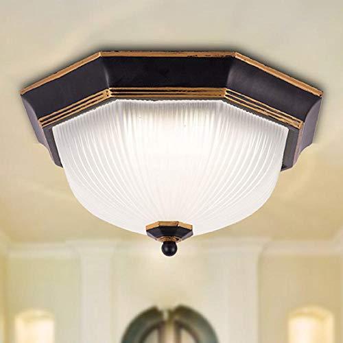 Corridor versnelling balkon lichten speciale aanbieding fabrikant Amerikaanse land veranda lichten glas pastorale plafondlampen gang balkon lichten