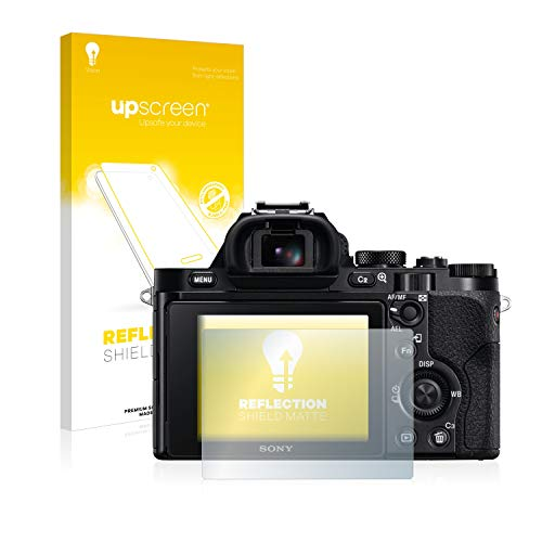 upscreen Entspiegelungs-Schutzfolie kompatibel mit Sony Alpha 7 (ILCE-7) – Anti-Reflex Bildschirmschutz-Folie Matt