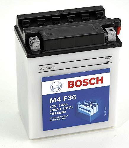 Bosch M4F36 Batería motocicleta YB14L-B2 - 12V Plomo 14A/h-140A