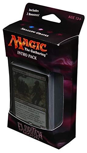 Magic the Gathering: MTG Eldritch Moon: Intro Pack / Theme Deck: Shallow Graves (includes 2 Booster Packs & Alternate Art Premium Rare Promo) Black / Blue - Noosegraf Mob