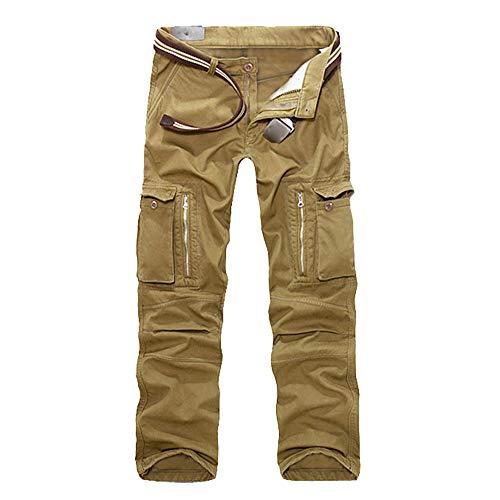 Celucke Cargohose Herren Pure Vintage Cargo Hose mit 7 Taschen, Männer Freizeithose Chinos Militär Army Feldhose