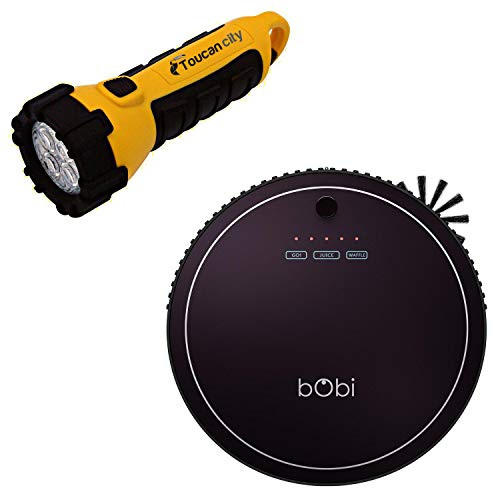Toucan City LED Flashlight and bObsweep bObi Classic Robotic Vacuum Cleaner and Mop Blackberry SW603002