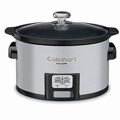 Cuisinart PSC-350FR Programmable Slow Cooker (Renewed), 3-1/2 quart, Silver