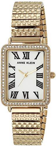 Anne Klein Reloj de pulsera con cristales Swarovski para mujer