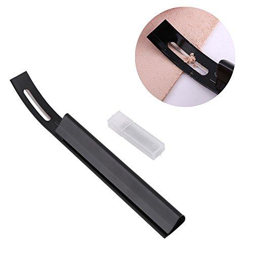 Skiver de cuero, negro Skiver de seguridad biselador adelgazamiento Leather Craft Blade DIY dobleces costura herramienta