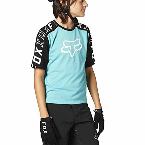 Fox Racing Kids' Youth Ranger DRI Release Short Sleeve Mountain Biking Jersey, Teal, Medium