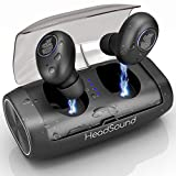 HeadSound H5 True Wireless Earbuds, Bluetooth 5.0 Ear Buds Stereo Immersive Sound with Charging Case, 100H Playtime 2600mAh, Auto Pairing, IPX7 SweatProof Sports Headphones, Built in Mic, Gym Workout