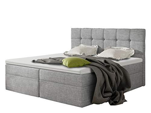 Boxspringbett Felipe mit 2 Bettkästen, Lattenrost und Matratze im Set, Doppelbett...