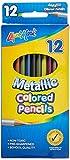 Liqui-Mark Metallic Colored Pencils, Pack of 12 (66120)