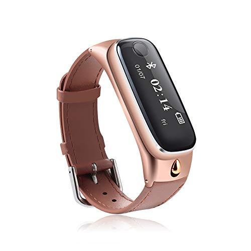 Qpw Fitness-Tracker, Kommunikation, Herzfrequenz Smartwatch Bluetooth Pedometer Schrittzähler Bluetooth 4.0 Farbe Bildschirm ich NTELLIGENT Sport Armband, kompatibel mit Android, ios
