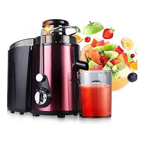 Licuadora de zumo de centrífugo, 60 mm, licuadora JuicersVegetable, interruptor giratorio, ajuste de 2 velocidades, limpieza automática 450 ml (color: púrpura)