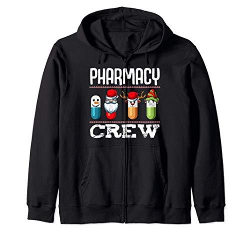Farmacia Crew Pills Farmacutico de Navidad Medicina Sudadera con Capucha