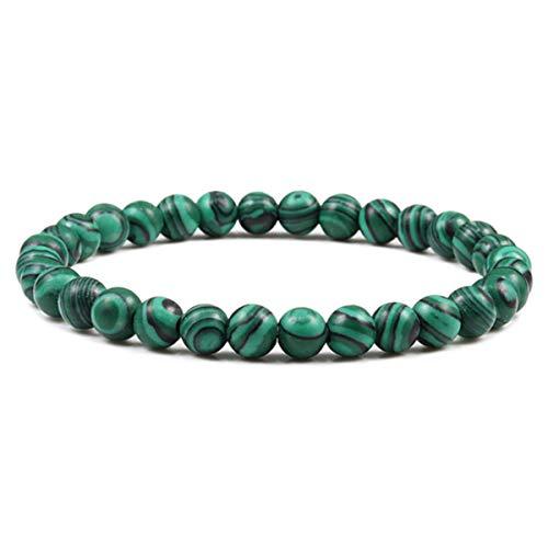 6mm Malachite Stone Bracelet Classic Natural Bead Men Bracelets&Bangles Healing Balance Elastic Handmade Charm Jewelry for Women