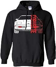 WheelSpinAddict Men's C4 Corvette Pullover Hoodie Black