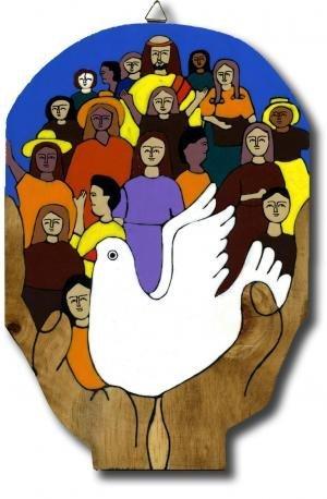 Religioso Madera placa. Jesús con la infantil