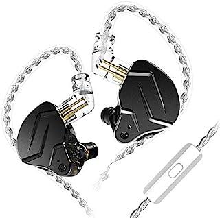 KINBOOFI KZ ZSN PRO X - Auriculares in-ear 1BA 1DD HiFi Bass Auriculares, cancelación de ruido, IEM de metal con cable C extraíble (negro con micrófono)