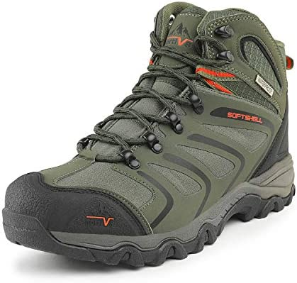 NORTIV 8 Men s 160448 M Olive Green Black Orange Ankle High Waterproof Hiking Boots Outdoor product image