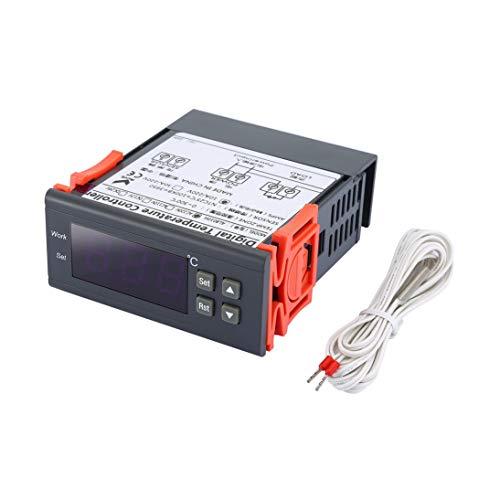 AL8010H 220V 30A Digitalanzeige Thermostat Intelligente Temperaturregelung Schalter für Gefrierschrank Aquarium Temperaturregelung - Schwarz