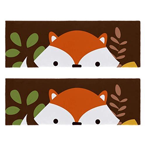 2 paquetes de toallas de yoga para gimnasio, camping, playa y viajes, toalla de banco deportiva Hello Autumn Fox para cuello, secado rápido
