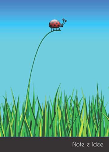 Note e Idee: Taccuino / quaderno picollo coccinella scarabe A6 punteggiato