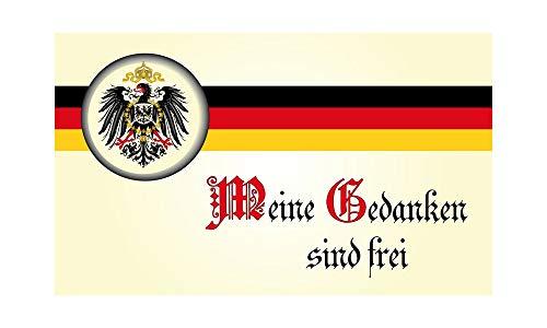 DH 41 - Deutschland Flagge - Meine Gedanken sind frei Fahne 90 x 150cm