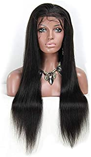 100% natural human Indian hair wig front lace wig 20 inch