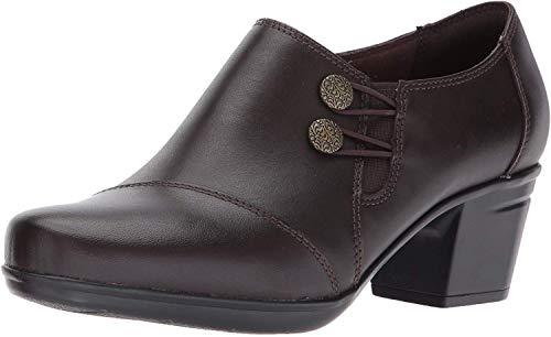 Clarks Women's Emslie Warren Slip-on Loafer,Dark Brown,5.5 M US