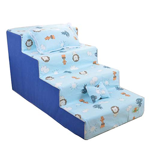 Jie KE ladder voor honden, 4 stappen voor katten, honden, voor hoogslaper, draagbaar, wasbaar, licht en draagbaar