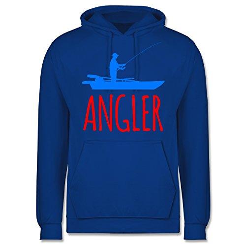 Shirtracer Angeln - Angler Boot - Angelboot - L - Royalblau - JH001 - Herren Hoodie und Kapuzenpullover für Männer