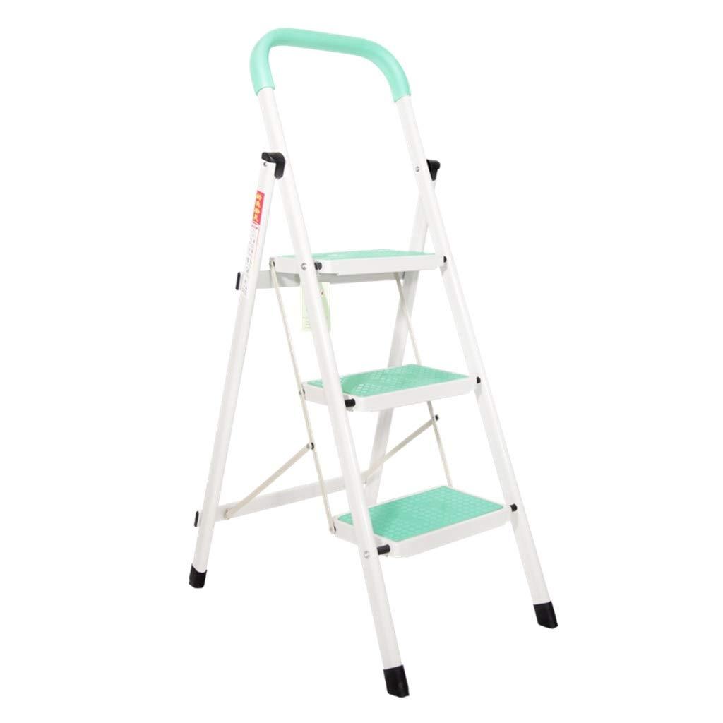 Escalera plegable Unilateral de hierro escaleras de tijera, Escalera Tienda (admite hasta 150 Kg) 3 Paso Escalera plegable / Fuerte antideslizante Diseño plegable Multifuncional (Size : 40*66*116cm) : Amazon.es: Bricolaje y herramientas
