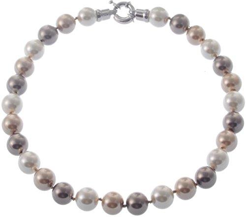 behave Clásico collar de perlas con cierre grande – Bisutería – Collares cortos – Regalos para mujeres
