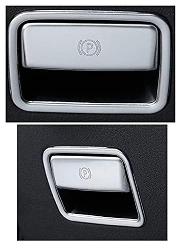 LIANGJIN Coche Styling El pie de liberación del Freno de liberación del Interruptor de la liberación de Las Cubiertas Pegatinas Ajuste para Mercedes Benz Gle W166 ML GL GLS X166 Auto Accesorios